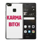 Huawei Case Cover Hülle - Karma Bitch Glamour - Fun Funny Spruch Sprüche Witzig