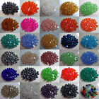 Wholesale 500Pcs 4mm/6mm Bicone Faceted Crystal Glass Loose Spacer Beads For DIY