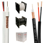 SIAMESE BLACK OR WHITE CABLE 500FT, 1000FT RG59 RG59U SECURITY CCTV CAMERA WIRE