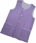 1 Ladies Check Sleeveless Tabard Apron Work Overall / Elaine / Lilac / All Sizes