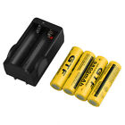 4x 18650 3.7V 9800mAh Rechargeable Li-ion Battery + Charger For Flashlight LOT M
