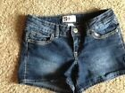 So Junior's Short Shorts Colored Stitching Size 7 Cotton Blend