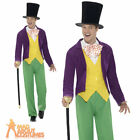 Adult Roald Dahl Willy Wonka Costume Mens Film Book Week Day Fancy Dress New