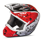 Fly Racing Kinetic Crux Graphic Red Off Road Helmet