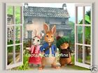 Peter Rabbit and Friends 3D Window View Wall Sticker Removable Decal Mural Decor