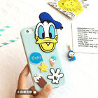 3D Cute Cartoon With Dust Plug Couple TPU Soft Case Cover For iPhone 5 6S 6 Plus