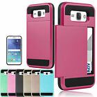 Hybrid Outer Box Wallet Case Cover Card Slot Holder For Samsung Galaxy J7 2015