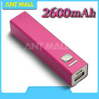 2600mAh Power Bank 2USB Quick Battery Charger For iPhone Samsung Universal Phone