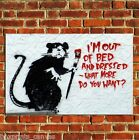 BANKSY OUT OF BED GRAFFITI POSTER QUALITY WALL ART PRINT PICTURE A4 A3 A2