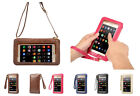 Touch Screen Universal PU Leather Cell Phone Purse Shoulder Bag Pouch Case Cover