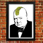 BANKSY CHURCHILL PUNK POSTER FRAMED WALL ART PRINT PICTURE SMALL MEDIUM LARGE