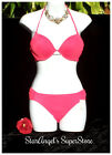 """Victoria's Secret Gorgeous Bombshell Add-2-Cups Bikini """"Hot and Spicy"""" Coral Red"""