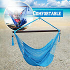 """Hanging Caribbean Polyester Hammock Chair 48 Inch NEW W/ NO """"C"""" STAND"""