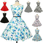 Vintage Swing Evening 50's Retro Pinup Short Prom Cocktail Party Dress PLUS SIZE