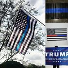 US Police Thin Blue Line Flag 3'x5' For Support Police & Law Enforcement 4 Style