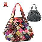 Genuine Soft Lambskin Leather Women Tote Shoulder Bag Shopping Purse Handbag