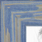 """ArtToFrames Picture Frame Custom 1.5"""" Blue Deep Periwinkle Wood 4377 Small"""