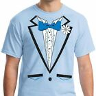 LIGHT BLUE RUFFLED TUXEDO t-shirt wedding costume dumb and dumber vintage tux