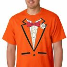 ORANGE RUFFLED TUXEDO t-shirt costume dumb and dumber vintage tux funny gift Tee