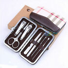7Pcs Nail Care Personal Manicure Pedicure Set Travel Grooming Kit Men Women