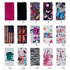 Card Slot Holder PU Leather Flip Wallet Case Stand Cover For Sony Xperia E5 5.0
