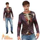 Adult Zombie Groom Printed T-Shirt Mens Halloween Horror Fancy Dress Outfit New