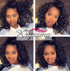 "10"" Curly Lace Front Human Hair Wigs Indian Remy Hair Lace Wigs Black Women 150%"