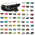 WOMEN/LADIES Skinny Leather Belt 4 sizes S / M / L / XL - 52 COLORS in Stock