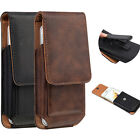 Vertical Leather Case Pouch for Iphone Samsung Galaxy Swivel Holster Belt Clip