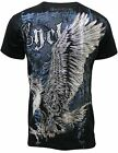 Konflic Men's Wing Crew Neck Graphic Muscle T-Shirt 531-BK