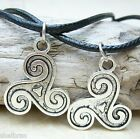 2x TW Teen Wolf Triskele Triskelion Tattoo Pendant Necklace Set Pair Best Friend