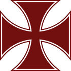 "Iron Cross Vinyl Decal Big 5.5"" or 8.5""   Maltese Symbol Sticker FREE S&H"
