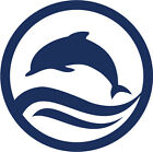 "Jumping Dolphin Vinyl Decal Big 5.5"" Ocean Beach Dolphins Sticker FREE S&H!"