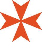 "Maltese Cross vinyl decal Big 6"" Amalfi Malta Cross Car Window Sticker FREE S&H!"