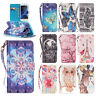 3D Pattern Bling Diamond Wallet Leather Case Cover For Samsung Galaxy Phones