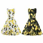 Elegant Ladies Vintage Style 50'S 60'S Rock Dress Swing Pinup Retro Party Dress