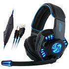 wireless usb gaming headset - Professional Gaming Headphone USB Vibration Game Headset with Mic LED Light Lot