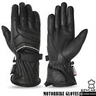 Mens Motorbike Motorcycle Dry Drum Soft Leather Gloves Summer Light Weight artic