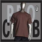 1 New Mens Pro Club Heavyweight Brown Blank T Shirt M to 3XL PROCLUB