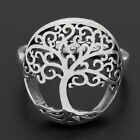 Womens Sterling Silver Rounded Tree of Life Ring size 6 7 8 9 10