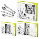 16, 24, 40 PC STAINLESS STEEL CUTLERY SET TABLEWARE DINING KNIVES FORKS SPOONS