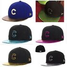 Chicago Cubs Cap MLB New Era Fitted Metallic Hat Mens Size