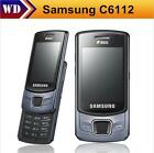"Samsung C6112 Original Unlocked 2G GSM 2.4"" Slide Phone 2.0MP Dual SIM Bluetooth"