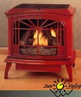 Sun Valley Cast Iron Gas Stove Heater Townsend II Red