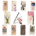 Ultra Thin Cartoon Transparent TPU Soft Case Cover Skin For iPhone 5S 6S Plus