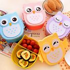 New Cute Cartoon Owl Lunch Box Portable Bento Box Picnic Container with TXSU