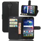 """Flip Magnetic Card Slot Wallet PU Leather Case Cover Skin For ZTE Grand X3 5.5"""""""