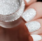 10ml Nail Art Glitter Powder Dust Tips White Silver Rose Mixed Size Manicure