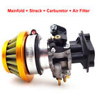 Gold 15mm Carburetor Air Filter Stack For Goped EVO Gas Scooter 33cc 43cc 49cc