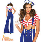 Adult Ship Shape Sailor Costume Sexy Sassy Fancy Dress Outfit Ladies Leg Avenue